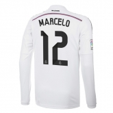 14-15 Real Madrid Marcelo #12 Home Long Sleeve Jersey Shirt