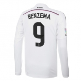 14-15 Real Madrid Benzema #9 Home Long Sleeve Jersey Shirt