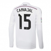 14-15 Real Madrid Carvajal #15 Home Long Sleeve Jersey Shirt