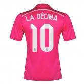 14-15 Real Madrid LA DÉCIMA #10 Away Pink Jersey Shirt