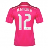 14-15 Real Madrid Marcelo #12 Away Pink Jersey Shirt
