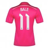 14-15 Real Madrid Bale #11 Away Pink Jersey Shirt