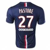 14-15 PSG PASTORE #27 Home Soccer Jersey Shirt