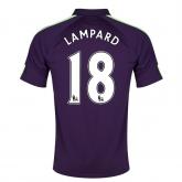 14-15 Manchester City Lampard #18 Away Violet Soccer Jersey Shirt