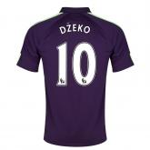 14-15 Manchester City Džeko #10 Away Violet Soccer Jersey Shirt
