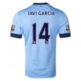 14-15 Manchester City Javi García #14 Home Soccer Jersey Shirt