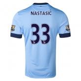 14-15 Manchester City Nastasić #33 Home Soccer Jersey Shirt