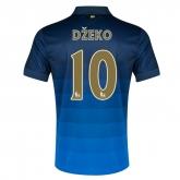 14-15 Manchester City Džeko #10 Away Blue Soccer Jersey Shirt