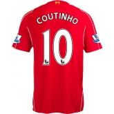 14-15 Liverpool COUTINHO #10 Home Red Soccer Jersey Shirt