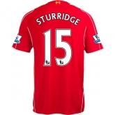 14-15 Liverpool STURRIDGE #15 Home Red Soccer Jersey Shirt