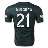 14-15 Celtic MULGREW #21 Away Deep Green Player Version Jersey Shirt