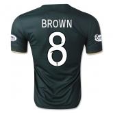 14-15 Celtic BROWN #8 Away Deep Green Player Version Jersey Shirt