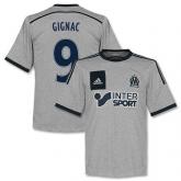 14-15 Marseilles Gignac #9 Away Gray Jersey Shirt