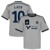 14-15 Marseilles A.Ayew #10 Away Gray Jersey Shirt
