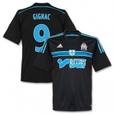 14-15 Marseilles Gignac #9 Away Black Jersey Shirt