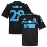 14-15 Marseilles Valbuena #28 Away Black Jersey Shirt