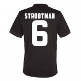 14-15 Roma Strootman #6 Away Brown Player Version Jersey Shirt