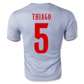 14-15 Atletico Madrid Thiago #5 Away Gray Jersey Shirt