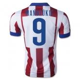 14-15 Atletico Madrid Maňdzúkic #9 Home Soccer Jersey Shirt