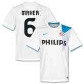 14-15 PSV Eindhoven Maher #6 Away White Jersey Shirt