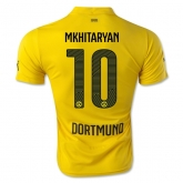 14-15 Borussia Dortmund MKHITARYAN #10 Champion League Yellow Jersey Shirt