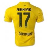 14-15 Borussia Dortmund AUBAMEYANG #17 Champion League Yellow Jersey Shirt