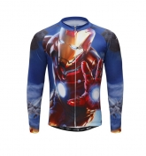 Ironman Blue Cycling Long Sleeve Jersey Top