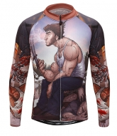 X-men Origins Wolverine Cartoon Brown Cycling Long Sleeve Jersey Top
