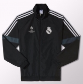 14-15 Real Madrid Champion League Black Track Jacket