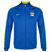 14-15 Manchester City Blue&Yellow Training Jacket