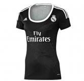 14-15 Real Madrid Away Black Womens Jersey Shirt