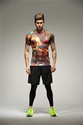 Colourful League of Heroes Soccer Short Sleeve Skintight Under Shirt Model No.1