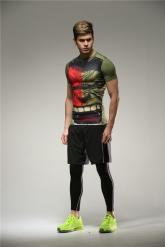 Colourful The Hulk Soccer Short Sleeve Skintight Under Shirt Model No.2