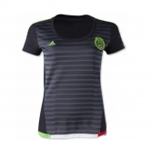 2015 Mexico Home Black Women's Jersey Shirt