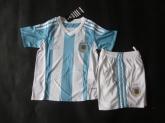 2015 Argentina Home Children's Jersey Kit(Shirt+Short)