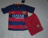 15-16 Barcelona Home Children's Jersey Kit