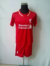 15-16 Liverpool Home Jersey Kit(Without Logo)