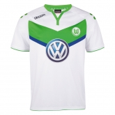 15-16 Wolfsburg Home White Soccer Jersey Shirt