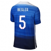 2015 USA Away Blue BESLER #5 Soccer Jersey Shirt