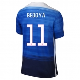 2015 USA Away Blue BEDOYA #11 Soccer Jersey Shirt