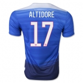 2015 USA Away Blue ALTIDORE #17 Soccer Jersey Shirt