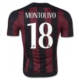 15-16 AC Milan Home MONTOLIVO #18 Soccer Jersey Shirt