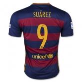 15-16 Barcelona Home Suárez #9 Soccer Jersey Shirt