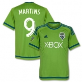 15-16 Seattle Sounders Home Martins #9 Soccer Jersey Shirt