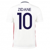 2015 France Away White ZIDANE #10 Soccer Jersey Shirt