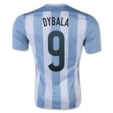 2015 Argentina Home Dybala #9 Soccer Jersey Shirt
