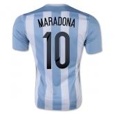 2015 Argentina Home Maradona #10 Soccer Jersey Shirt