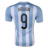 2015 Argentina Home Higuaín #9 Soccer Jersey Shirt