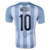 2015 Argentina Home Messi #10 Soccer Jersey Shirt