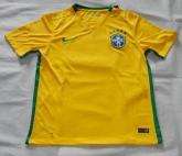 2015 Brazil Home Yellow Jersey Shirt